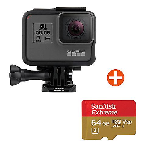 gopro hero5 black action cam mit 64 gb speicherkarte. Black Bedroom Furniture Sets. Home Design Ideas