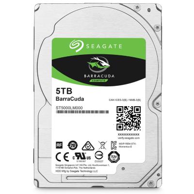 Seagate  BarraCuda HDD ST5000LM000 – 5TB 5400rpm 128MB 2.5zoll SATA600 | 8592978077426