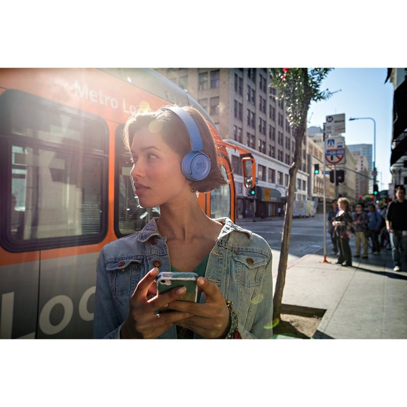 JBL T450BT Blau - On Ear-Bluetooth Kopfhörer mit Mikrofon