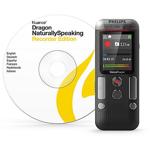Voice Tracer DVT2710 Digitales Diktiergerät mit Stimmaktivierung