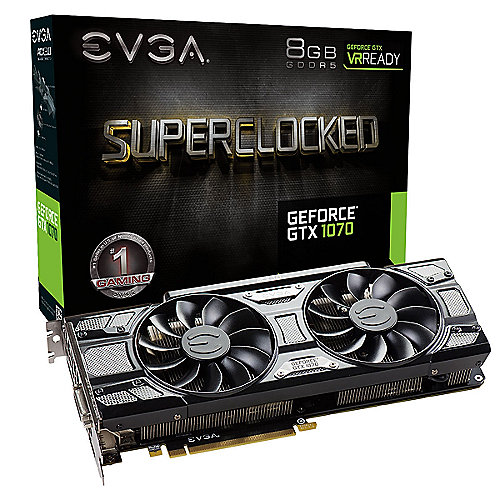 EVGA GeForce GTX 1070 SC Gaming ACX 3.0 Black Ed. 8GB DVI/HDMI/3xDP Grafikkarte
