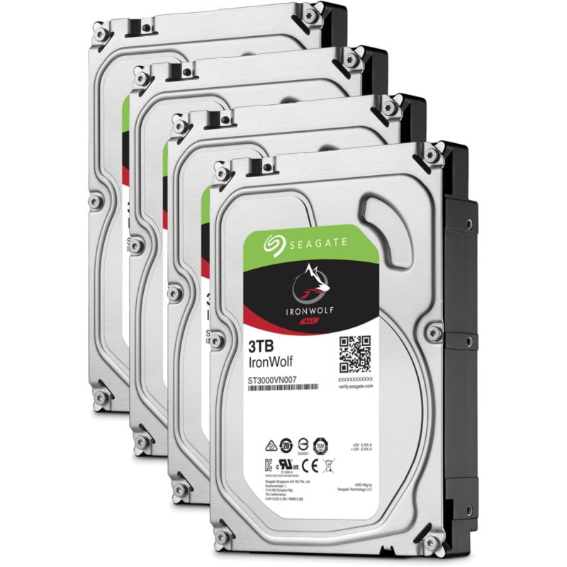 QNAP TS-431P NAS System 4-Bay 12TB inkl. 4x 3TB Seagate ST3000VN007