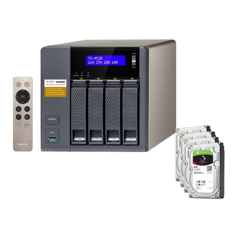 QNAP TS-453A-4G NAS System 4-Bay 32TB inkl. 4x 8TB Seagate ST8000VN0022