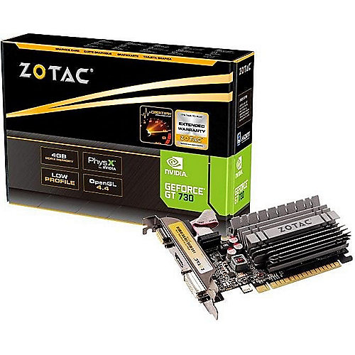 Zotac GeForce GT 730 Zone Edition 4GB DDR3 Grafikkarte LP DVI/HDMI/VGA