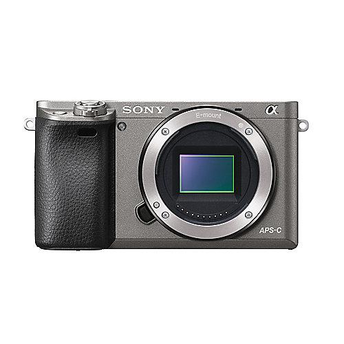 Sony Alpha 6000 Gehäuse Systemkamera graphit grau