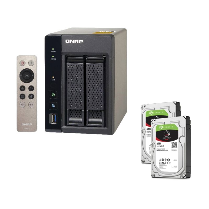 QNAP TS-253A-8G NAS System 2-Bay 16TB inkl. 2x 8TB Seagate ST8000VN0022