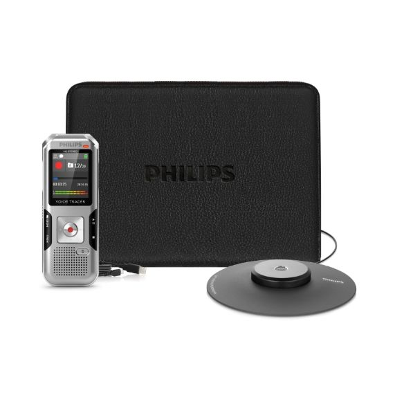 Philips Voice Tracer DVT 41000 Stereo Diktiergerät 4GB + Meeting-Set