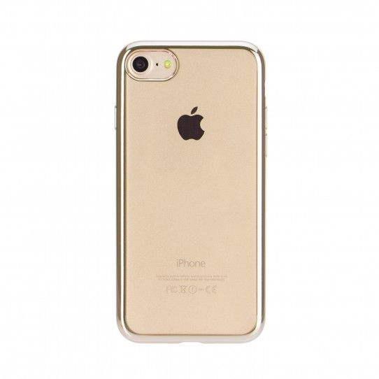 xqisit Flex Case Chromed Edge für iPhone 7, gold-transparent