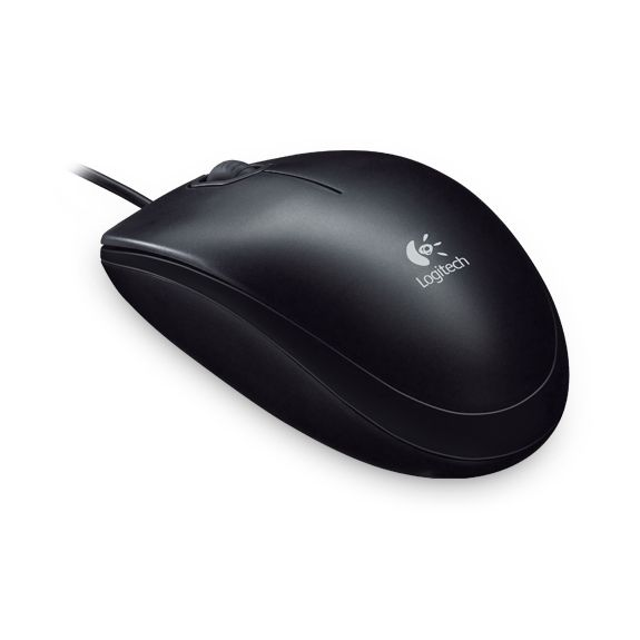 Logitech B100 Optical USB Maus schwarz Bulk
