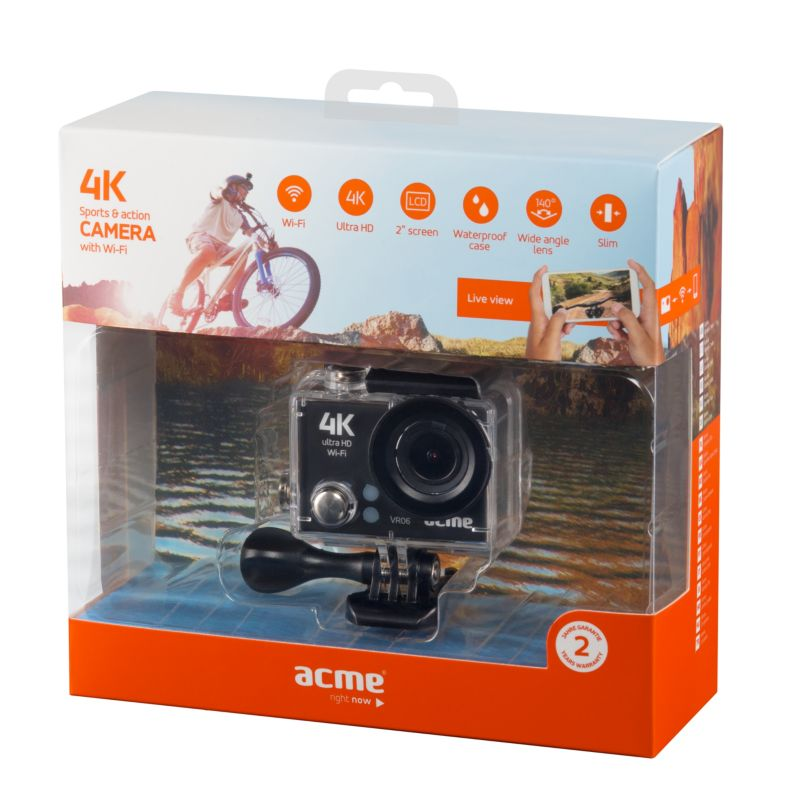 ACME VR06 4K Ultra HD Action Cam mit Wi-Fi