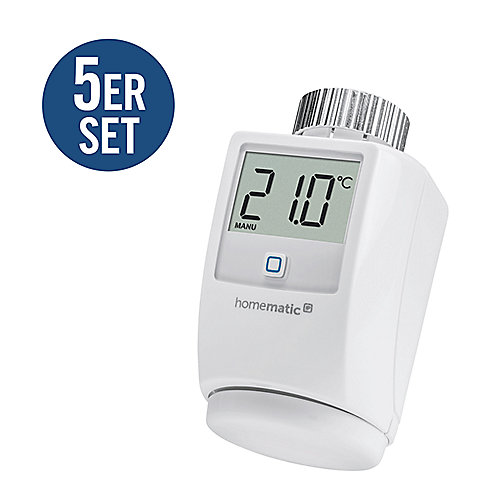 Homematic IP 5er Set Heizkörperthermostat HMIP-eTRV
