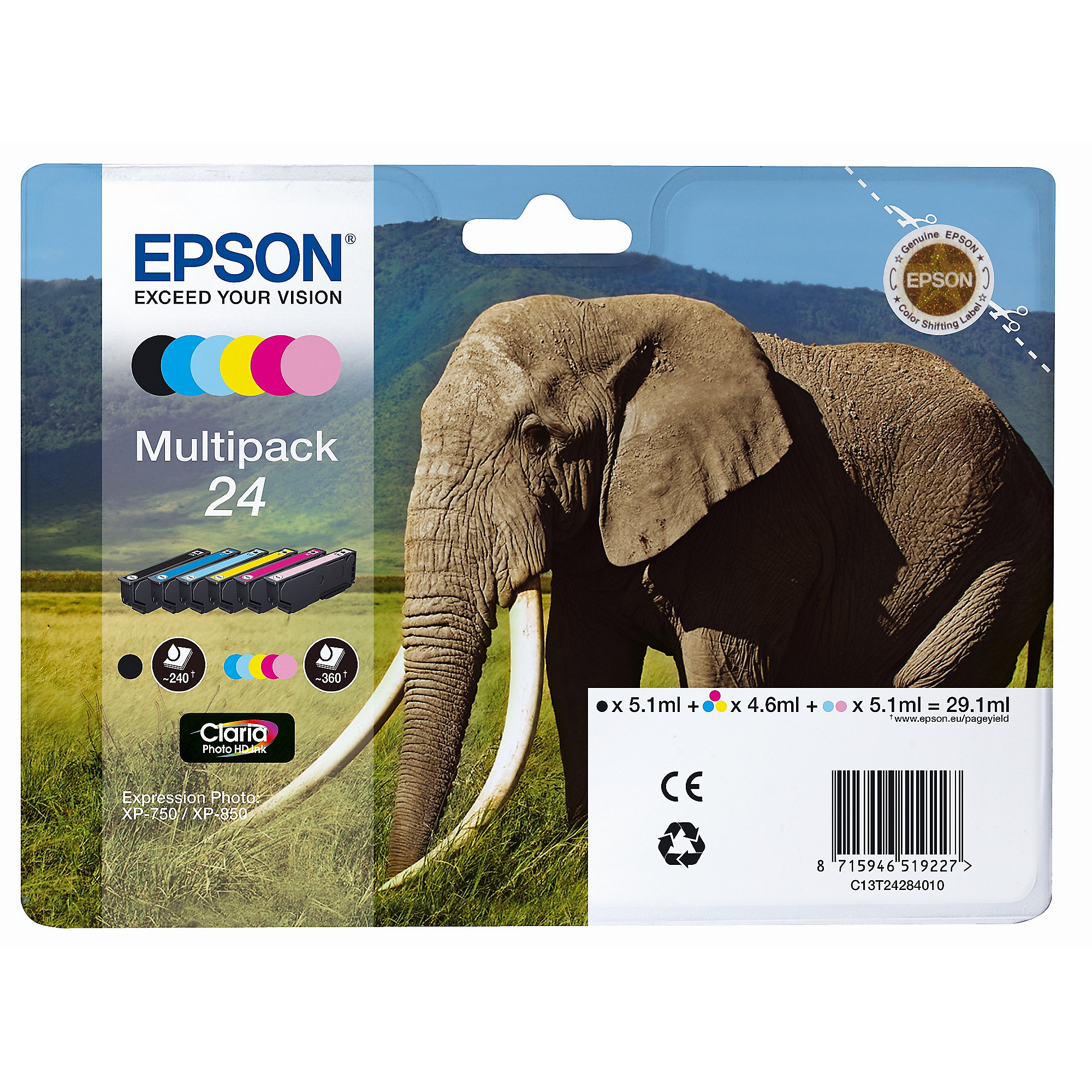 EPSON Expression Photo XP-960 Drucker Scanner Kopierer A3 + Tintenmultipack 24