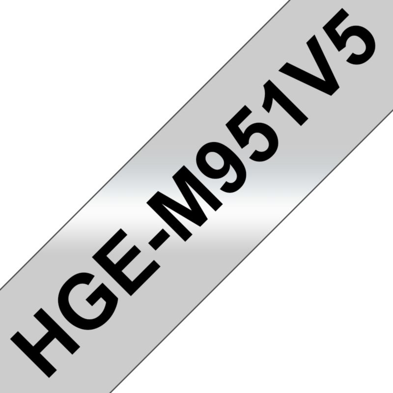 Brother HGe-M951V5 Schriftband-Multipack 5x High-Grade 24mm x 8m
