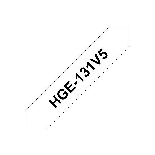 Brother HGe-131V5 Schriftband-Multipack 5x High-Grade 12mm x 8m
