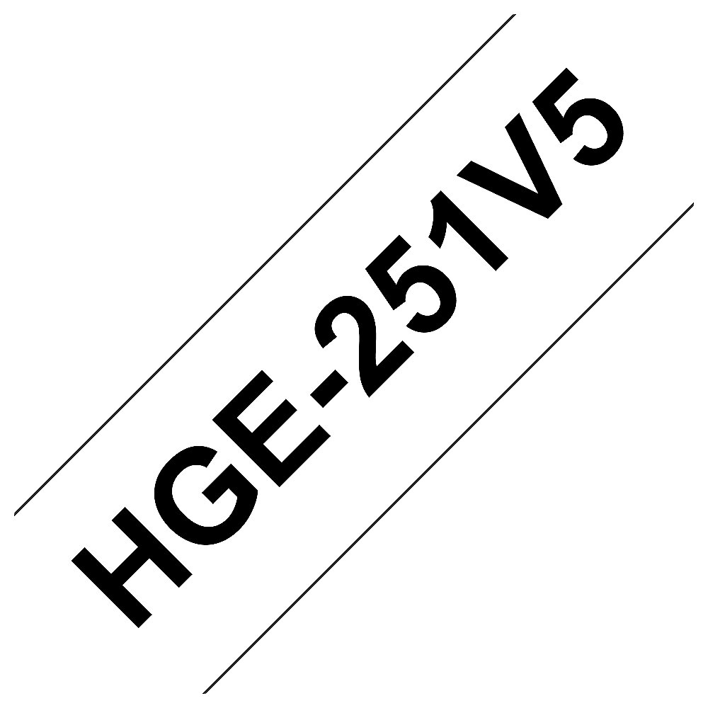 Brother HGe-251V5 Schriftband-Multipack 5x High-Grade 24mm x 8m