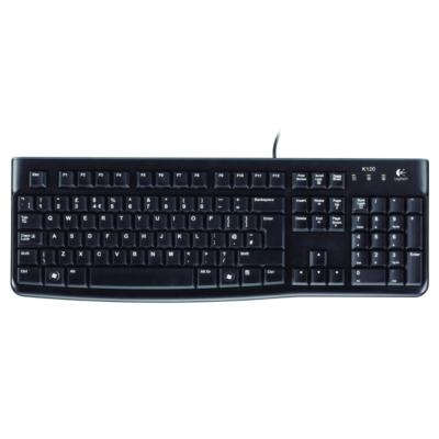 Logitech  K120 Kabelgebundene Tastatur USB Schwarz 920-002489 | 5099206020733