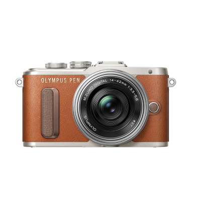 Olympus  PEN E-PL8 Kit 14-42mm EZ Pancake Systemkamera braun | 4545350050320