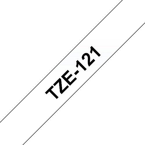 Brother TZe-121 Schriftband schwarz auf farblos 9mm x 8m P-touch selbstklebend | 4977766684781