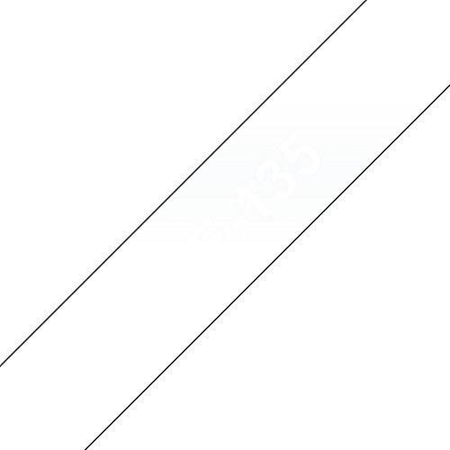 TZe-135 Schriftband weiss auf farblos 12mm x 8m P-touch selbstklebend | 4977766684903