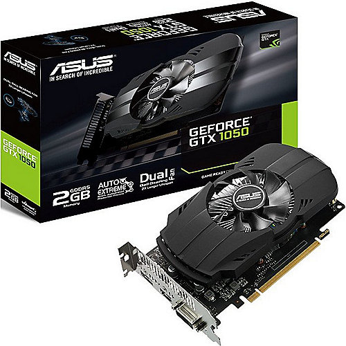 Asus GeForce GTX 1050 Phoenix 2GB GDDR5 DVI/HDMI/DP Grafikkarte