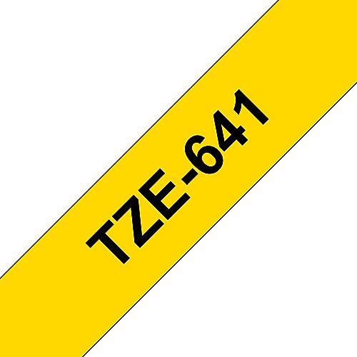 Brother TZe-641 Schriftband  schwarz auf gelb, 18mm x 8m, selbstklebend | 4977766686716