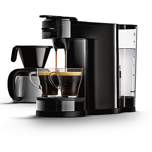Philips HD7892/60 Senseo Switch 2-in-1 Kaffeemaschine für Filter und Pads, schw.
