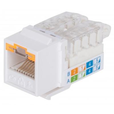 Intellinet  Abschließbare Cat6 Modularbuchse ungeschirmt UTP Keystone weiß   0766623790758