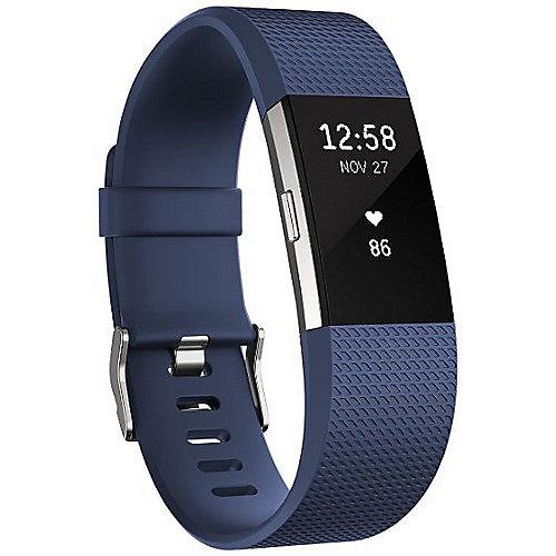 Charge 2 Armband zur Herzfrequenz- und Fitnessaufzeichnung blau large | 0816137020275