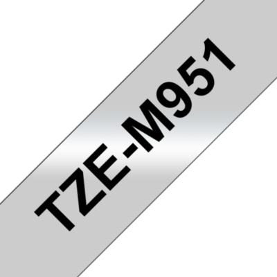 Brother  TZe-M951 Schriftband, 24mm x 8m, schwarz auf silber (matt) | 4977766692588