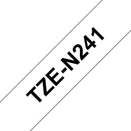TZe-N241 Schriftband, schwarz auf weiss 18mm x 8m unlaminiert | 4977766692113
