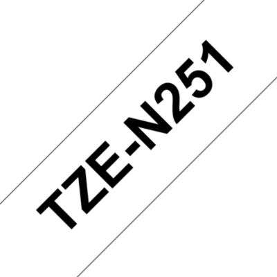 Brother  TZe-N251 Schriftband, schwarz auf weiss 24mm x 8m unlaminiert | 4977766692618