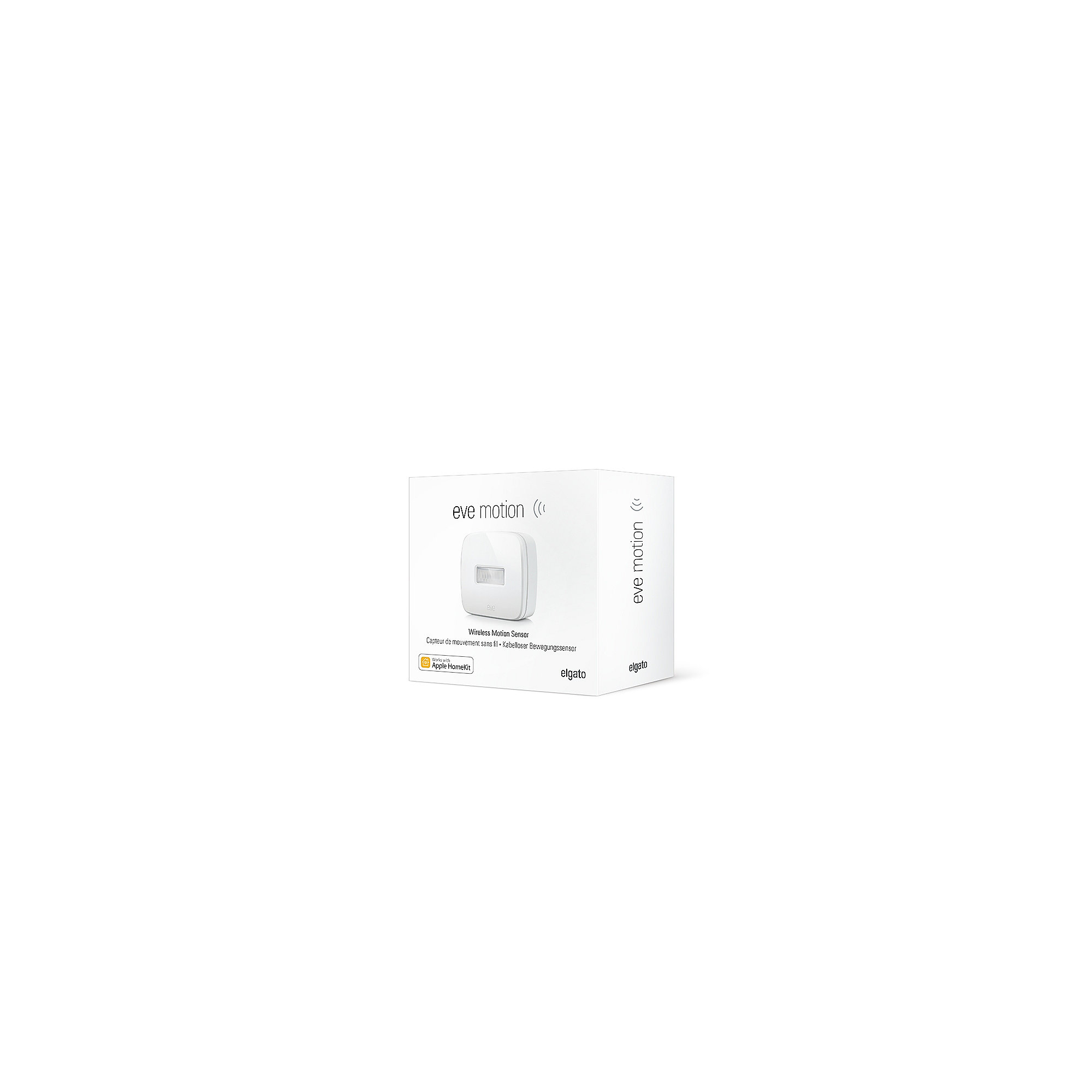 Elgato Eve 2er Set Motion kabelloser Bewegungsmelder für Apple HomeKit