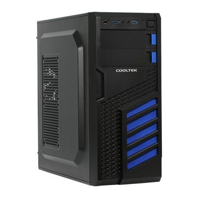Cooltek  KX Blue Midi Tower ATX Gehäuse schwarz/blau USB3.0 | 4250140363909