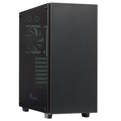 Cooltek  Jonsbo QT03A Midi Tower mATX Gehäuse mit Seitenfenster, USB3.0, schwarz | 4250140357106