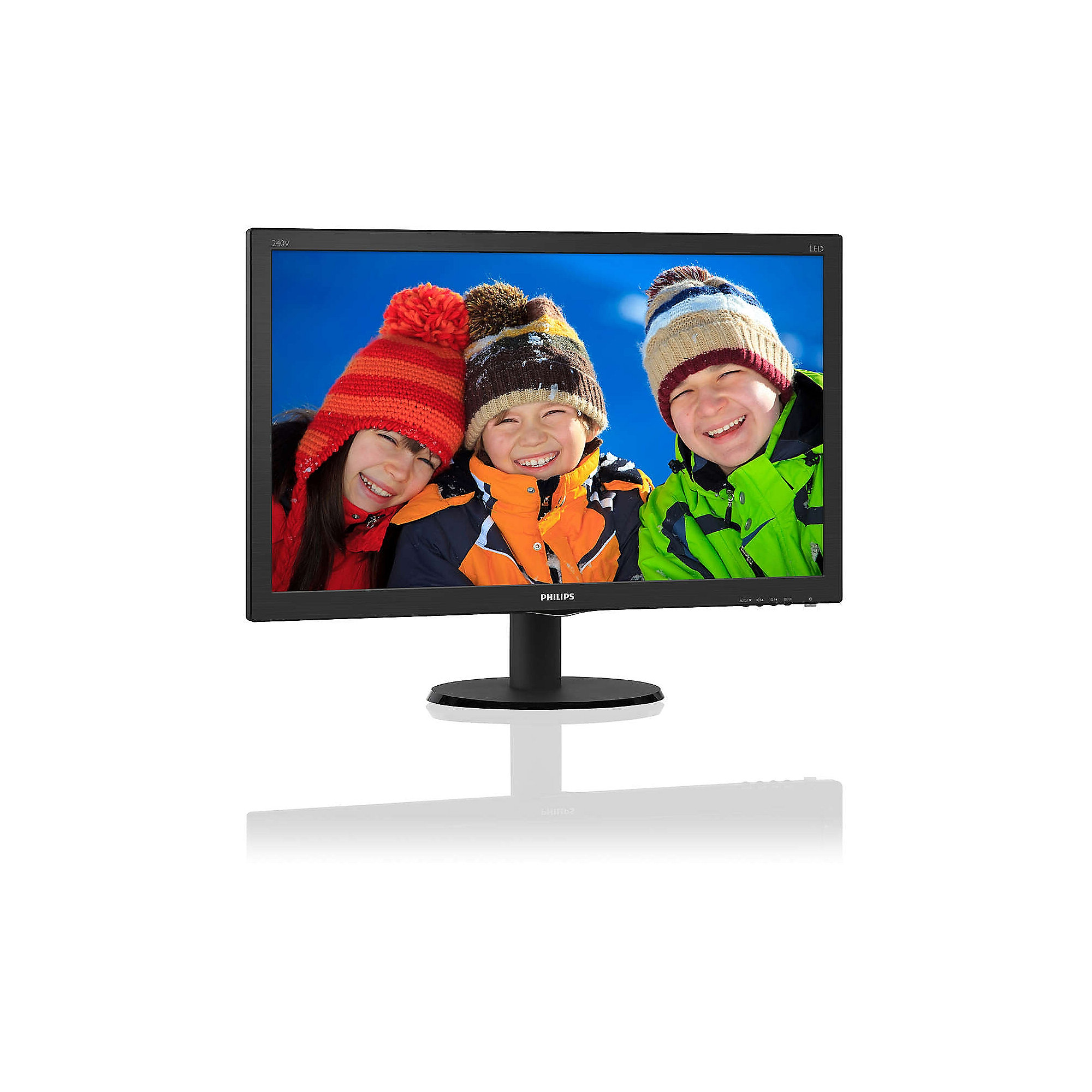 "Philips V-line 240V5QDSB 60.5cm (23,8"") Full HD Monitor VGA/DVI/HMD 5ms LS"
