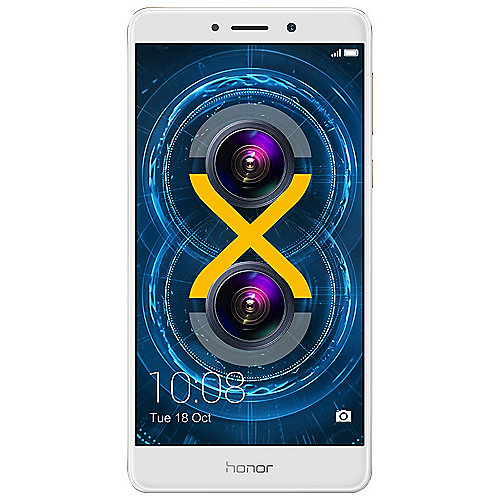 Honor 6X gold Android Smartphone mit Dual-Kamera