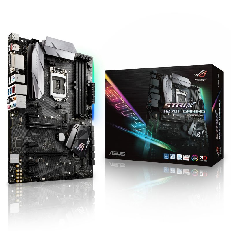 ASUS STRIX H270F GAMING ATX Mainboard 1151 DVI/HDMI/DP/M.2/USB3.1