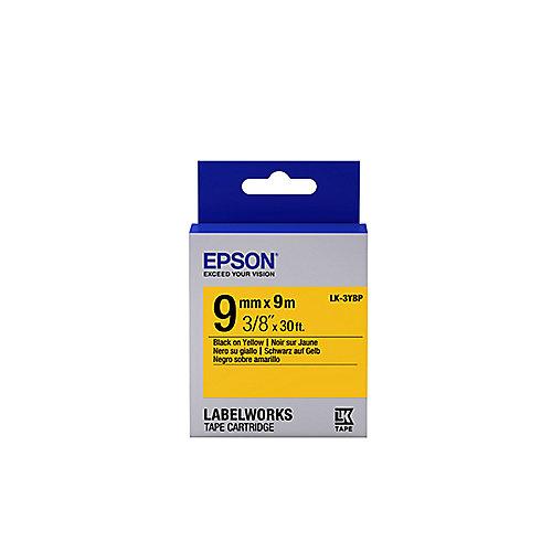 C53S653005 – Schriftband LK-3YBW stark klebend 9mmx9m schwarz auf gelb | 8715946611167