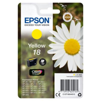 Epson  C13T18044012 Druckerpatrone 18 gelb | 8715946625164