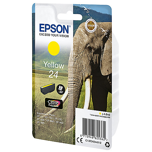 Epson C13T24244012 Druckerpatrone 24 Claria Photo HD gelb | 8715946625362