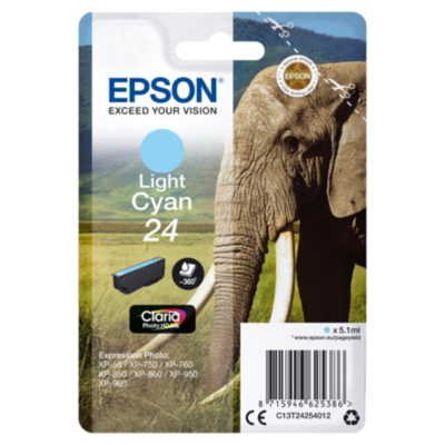 Epson  C13T24254012 Druckerpatrone 24 Claria Photo HD light Cyan | 8715946625386