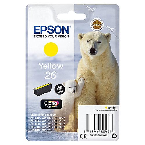 Epson C13T26144012 Druckerpatrone 26 Gelb Claria Premium Ink