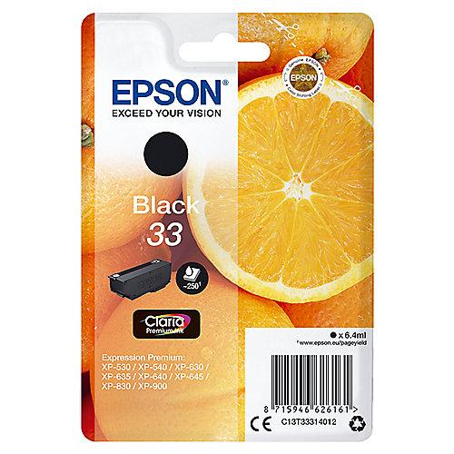 Epson C13T33314012 Druckerpatrone 33 schwarz Claria Premium Ink