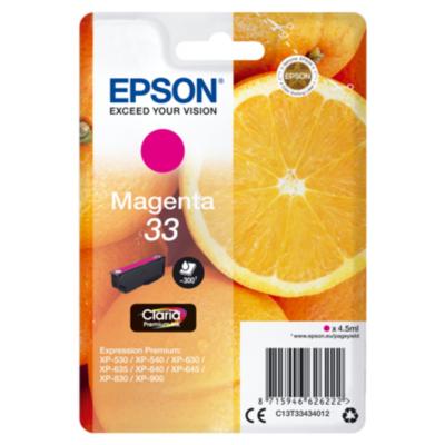 Epson  C13T33434012 Druckerpatrone 33 magenta Claria Premium Ink   8715946626222