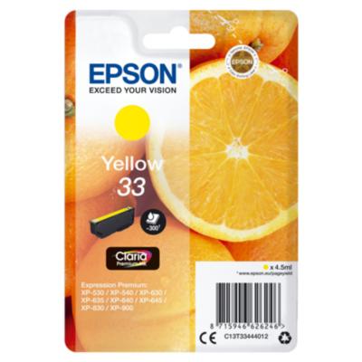 Epson  C13T33444012 Druckerpatrone 33 gelb Claria Premium Ink | 8715946626246