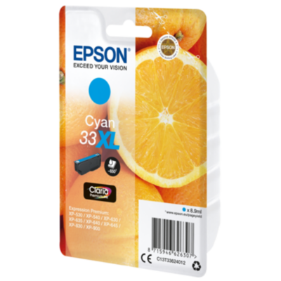 Epson  C13T33624012 Druckerpatrone 33XL cyan Claria Premium Ink   8715946626307