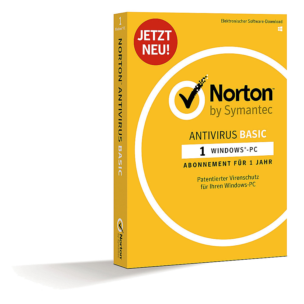Symantec Norton Antivirus Basic, 1 PC, Abonnement 1 Jahr, Minibox
