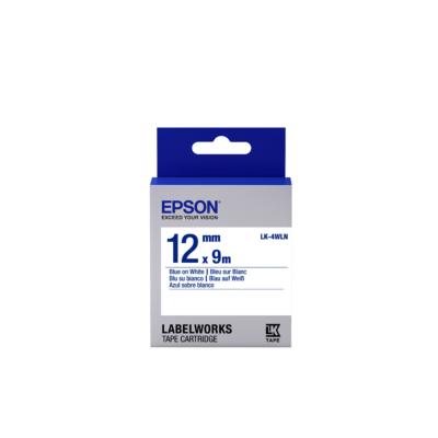Epson  C53S654022 Schriftband LK-4WLN klebend 12mmx9m blau auf weiß | 8715946611372