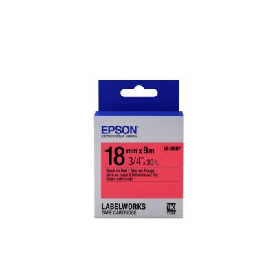 Epson  C53S655002 Schriftband LK-5RBP klebend 18mmx9m schwarz auf rot   8715946611464