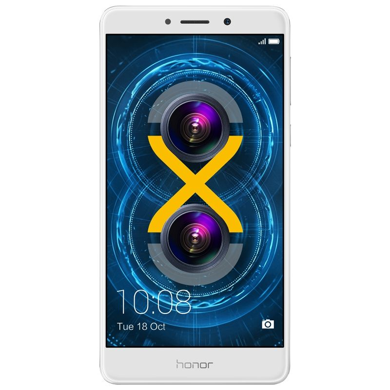 Honor 6X silver Android Smartphone mit Dual-Kamera